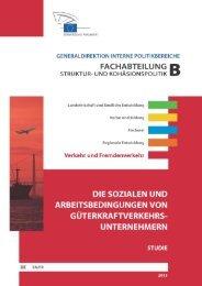 die sozialen und arbeitsbedingungen von ... - European Parliament