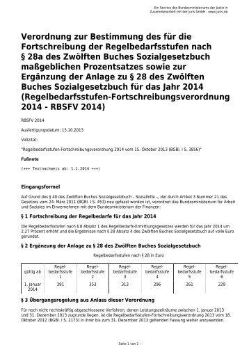 Verordnung zur Bestimmung des für die Fortschreibung der ...
