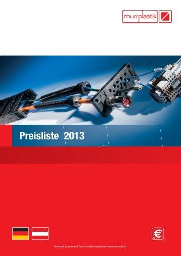 Preisliste 2013 - Murrplastik Systemtechnik