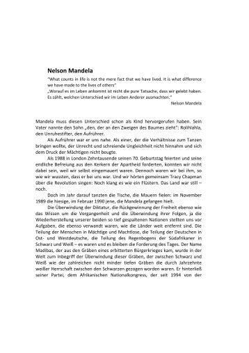 Nelson Mandela - Robert Havemann Gesellschaft
