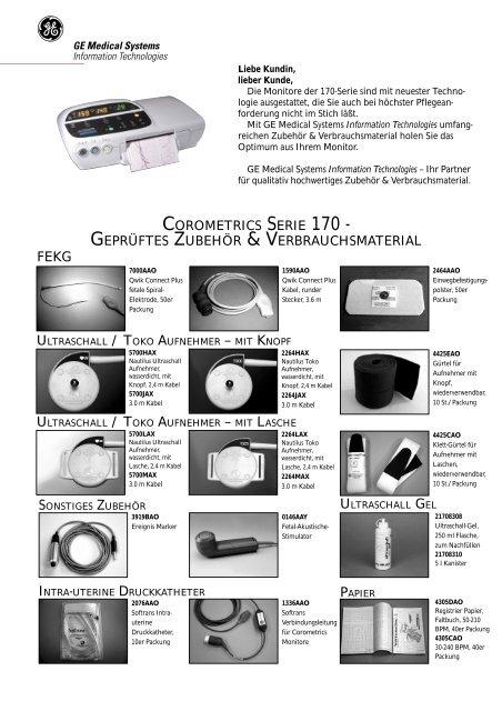 COROMETRICS SERIE 170