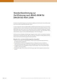 Standortbestimmung zur Zertifizierung nach MAAS-BGW für DIN EN ...