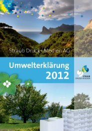 Zertifizierungen bei Straub Druck+Medien AG