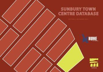 sunbury town centre database - Hume City Council