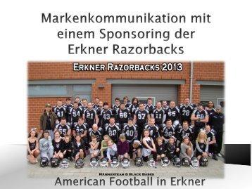 Sponsorenkonzept Erkner Razorbacks