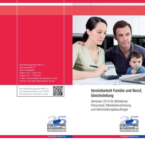 Vereinbarkeit Familie und Beruf, Gleichstellung - DGB-Bildungswerk ...