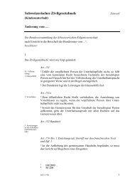 Schweizerisches Zivilgesetzbuch (Kindesunterhalt) - EJPD