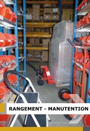 RANGEMENT - MANUTENTION