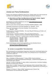 Literatur zum Thema - Familienzentrum NRW