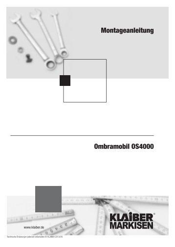 Ombramobil OS4000 Montageanleitung - KLAIBER Markisen