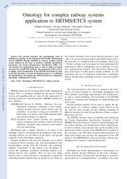 Ontology for complex railway systems application to ERTMS/ETCS ...
