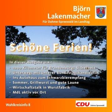 Wahlkreisbriefes - CDU Kreisverband Dahme-Spreewald