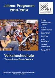 PDF der VHS Kurse - Trappenkamp