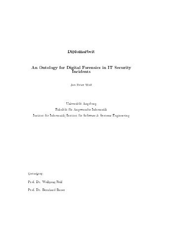 An Ontology for Digital Forensics in IT Security Incidents - OPUS