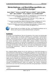 und Beschäftigungseffekte von Smart-Grids-Lösungen - EEG