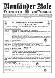 Einladung zum Adventskaffee Am Sonntag, den 15 ... - Adelsheim