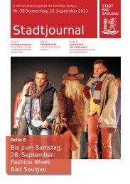 Stadtjournal Ausgabe 39/2013 - Stadt Bad Saulgau
