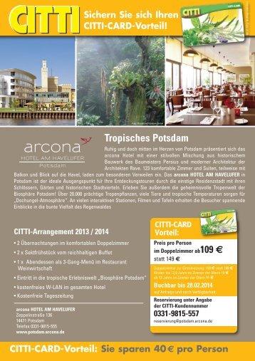 Sie sparen 40 € pro Person Arcona HOTEL BALTIC ... - CITTI-Markt