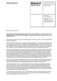 Stellungnahme zum Koalitionsvertrag - Diakonie Deutschland