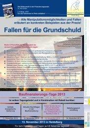 Fallen für die Grundschuld - Finanz Colloquium Heidelberg