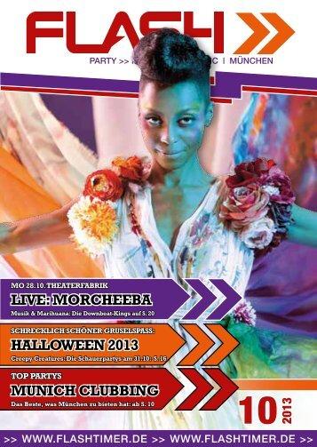 live: MOrcheeba hallOween 2013 Munich clubbinG - Flashtimer.de