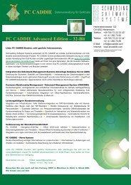 PC CADDIE Advanced Edition – 32-Bit