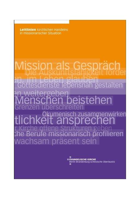 Leitlinien kirchlichen Handelns in missionarischer Situation