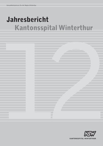 Jahresbericht 2012 - im Kantonsspital Winterthur