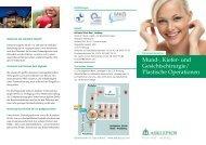 Mund-, Kiefer- und Gesichtschirurgie/ Plastische ... - Asklepios