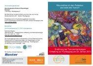Ernährung bei Tumorerkrankungen Einladung zur ... - AKE