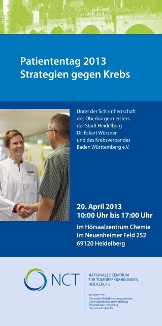 NCT Patiententag 2013 Programm - CellNetworks