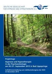 Download Flyer - Deutsche Gesellschaft für Hypnose e.V.
