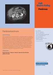 Falk Gastro-Kolleg Pankreas Fragen zum Pankreaskarzinom