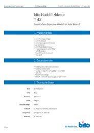 Technisches Datenblatt T 42 - Bito AG