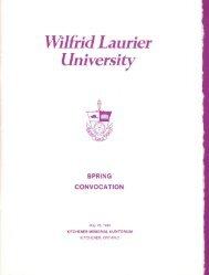 Download spring convocation 1985 program (PDF) - OurOntario.ca