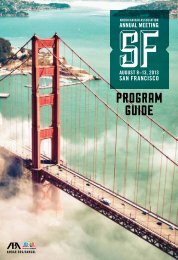 Annual Meeting Program and Expo Guide - American Bar Association