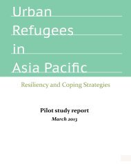 Urban Refugees in Asia Pacific - ALNAP