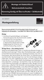 Montageanleitung - Hummel AG