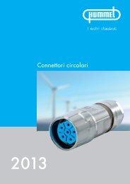 Connettori di potenza M 23 / Alloggiamento - HUMMEL AG
