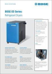 BOGE ED Series: Refrigerant Dryers - Boge Kompressoren