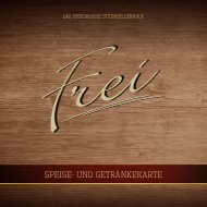 Frei Gengenbach - Speise- und Getränkekarte