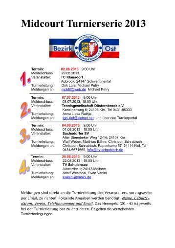 Midcourt Turnierserie 2013