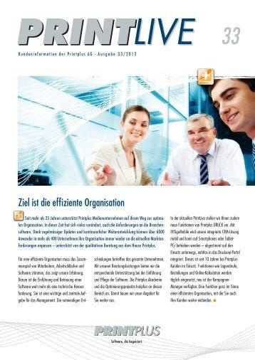 Ziel ist die effiziente Organisation