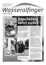 Froschkönig kehrt zurück ! - Stadt Aalen