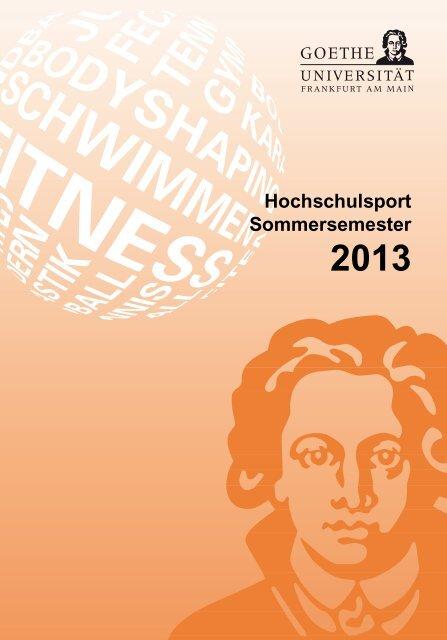 Sommersemester 2013 - Goethe-Universität