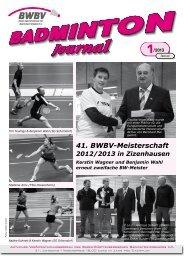 Heft 01/2013 - Baden - Württembergischer Badminton - Verband