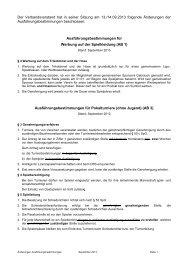 Änderung Ausführungsbestimmungen - SBFV