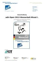 adh-Open 2013 Wasserball-Mixed I. - Allgemeiner Deutscher ...