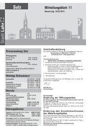Mitteilungsblatt Sulz 11 / 2013 (application/pdf) - Stadt Lahr