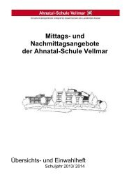 AG-Broschüre 2013-14 - Ahnatal-Schule Vellmar
